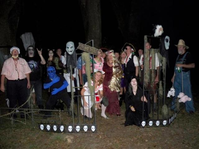 Ghosts in the Graveyard at the Halloween Party