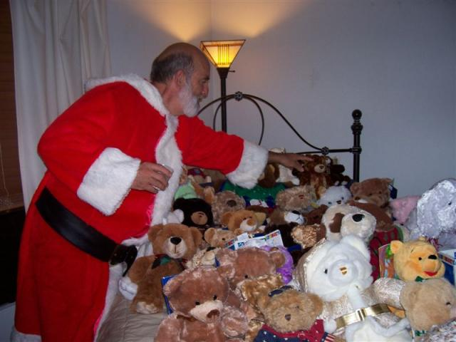 Santa Bear and the Teddy Bears at the Holiday Party