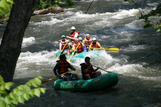 Whitewater Rafts and Duckies on the Nantahala