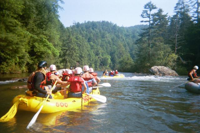 Whitewater Rafting the Chattooga